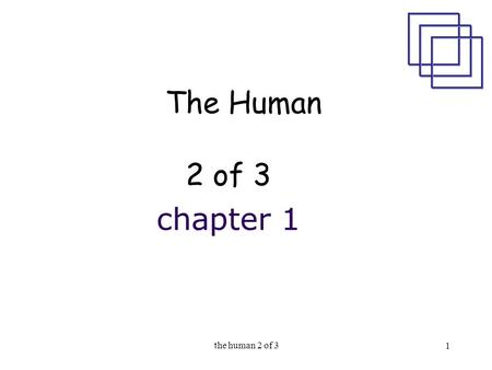The human 2 of 3 1 The Human 2 of 3 chapter 1. the human 2 of 3 2 the human Lecture 2 Information i/o … visual, auditory, haptic, movement Lecture 3 (today)