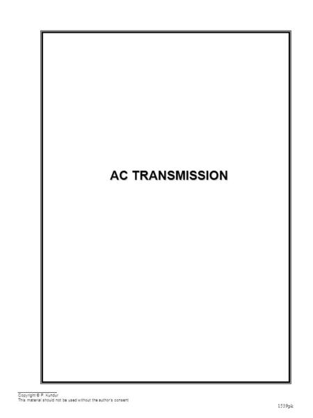 Performance Equations and Parameters of Transmission Lines