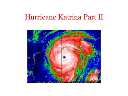 Hurricane Katrina Part II. Big Questions? These are the questions students seek to answer. The Big Questions guide student research. The Big Questions.
