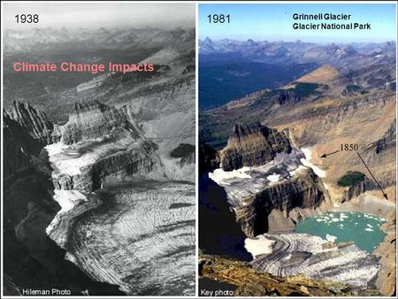 19381981 Grinnell Glacier Glacier National Park Climate Change Impacts.