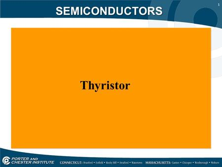 SEMICONDUCTORS Thyristor.