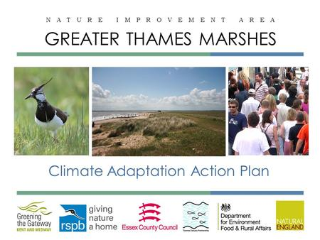 N A T U R E I M P R O V E M E N T A R E A GREATER THAMES MARSHES Climate Adaptation Action Plan.