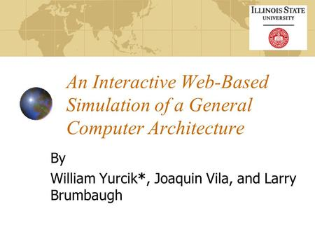 An Interactive Web-Based Simulation of a General Computer Architecture