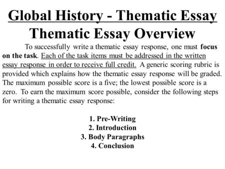 global history thematic essay on nationalism movement Global history mr walters essay #2: thematic essay (ec): nationalism theme: nationalism nationalism has been both a uniting and a dividing force.