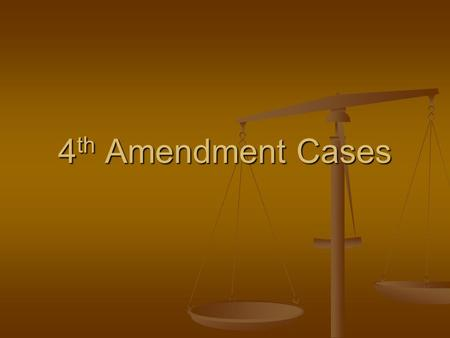 4 th Amendment Cases. Terry v. Ohio Undercover officer stopped two men after they had carefully looked in store windows several times. A third man joined.