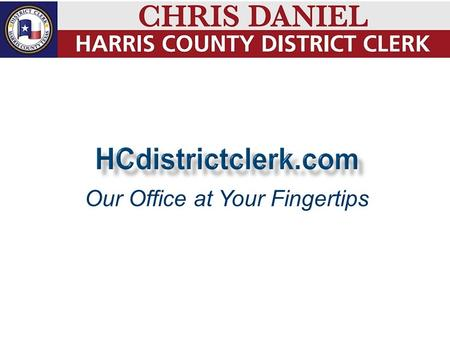 Our Office at Your Fingertips. Criminal Data Search Criminal Background Checks Civil Data Search Docket Search Docket Notification Single Point Of Entry: