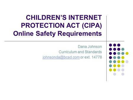 child internet protection act cipa Cipa is a regulation that requires all us schools and libraries to restrict children's access to obscene or harmful online content schools can implement technology such as a barracuda web.