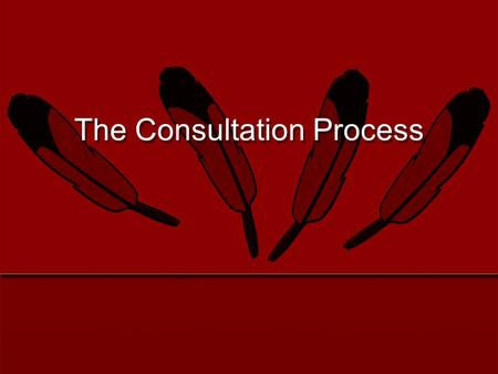 The Consultation Process. 2 Defined in laws, amendments, executive orders, etc. Origins in tribal sovereignty as acknowledged in U.S. Constitution Government-to-government.