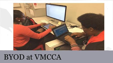 BYOD at VMCCA. Overview Objectives: 1.How is BYOD different than what we're currently doing? 2.How will my access to the wifi change? 3.What is the Responsible.