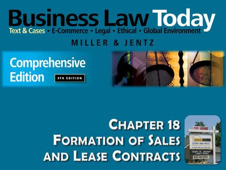 Chapter 18 Formation of Sales and Lease Contracts