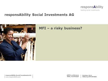 responsAbility Social Investments AG