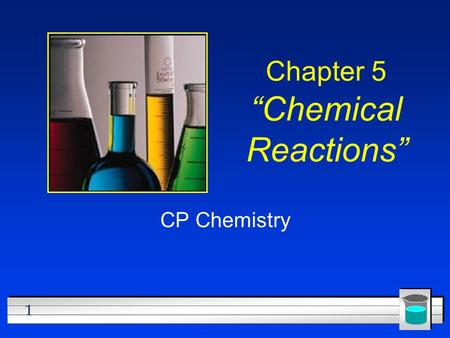 "1 Chapter 5 ""Chemical Reactions"" CP Chemistry. 2 Describing Chemical Reactions l OBJECTIVES: –Describe how to write a word equation."