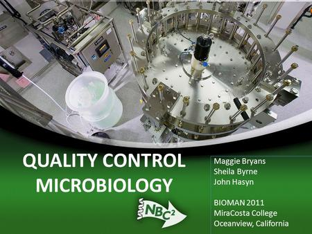QUALITY CONTROL MICROBIOLOGY