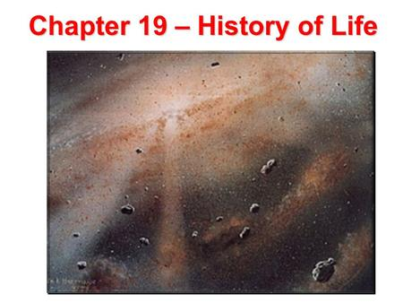Lesson Overview Lesson Overview Earth's Early History Chapter 19 – History of Life.