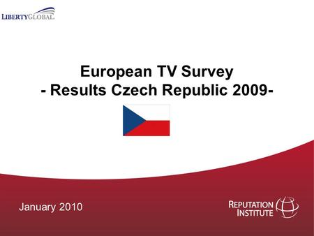 European TV Survey - Results Czech Republic 2009- January 2010.
