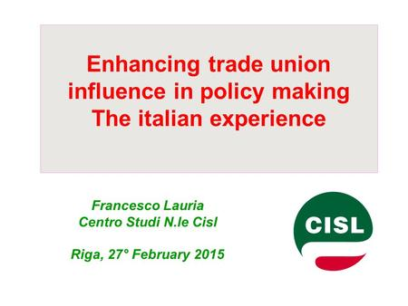 An introduction to the revival of the italian labor unions