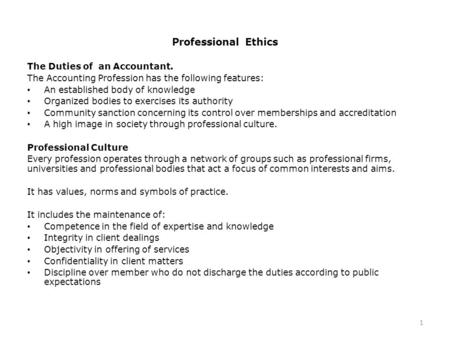 roles of professional accountants in relation The role of the professional accountants in business of the investors and managers understand the role of the professional accountants roles and importance of.