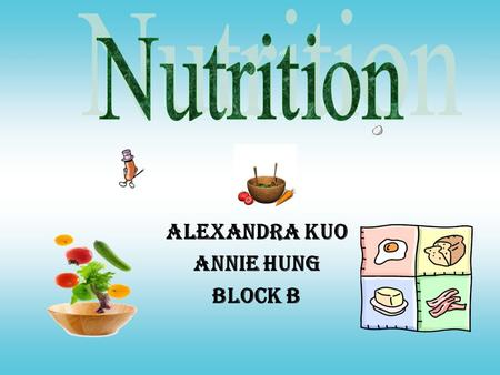 Alexandra Kuo Annie Hung Block B FIBRE filling, discourages overeating, adds no calories may protect against gut cancers and constipation help prevent.