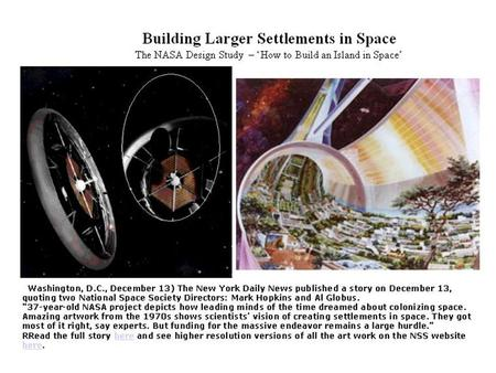 The following slides are from the NASA Archives. The Design Studies referred to in these slides come from seminal work performed under NASA Study Contracts.