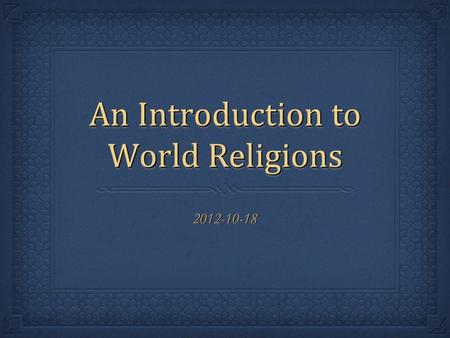 an introduction to the analysis of religious cults - the threat of religious cults cult is a new movement for a new religion in other words it is a formal ritual excessive belief cults are created due the established religions' lack of.