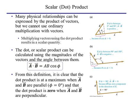 Scalar (Dot) Product. Scalar Product by Components.