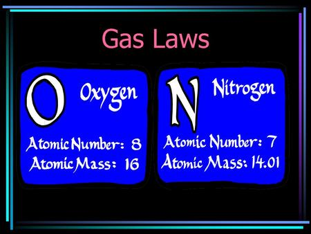 Gas Laws Units Used With Gas Laws PRESSURE: The force applied by many gas particles colliding with each other. 1.Atmospheres (atm) STP= 1atm 2.Pounds.