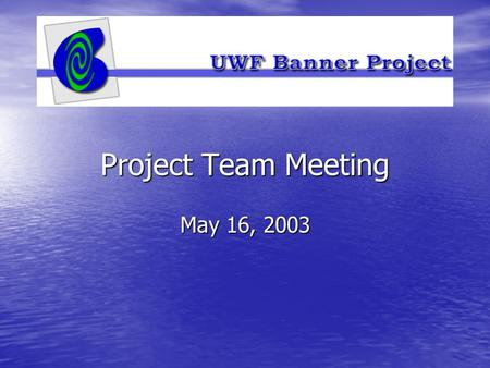 Project Team Meeting May 16, 2003. How Do I's How Do I's –What are they? –Why are they important? –What will be done with them?