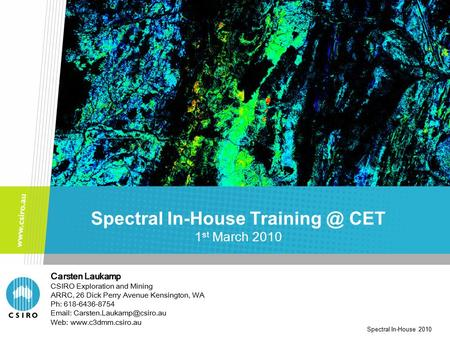 Spectral In-House CET 1st March 2010