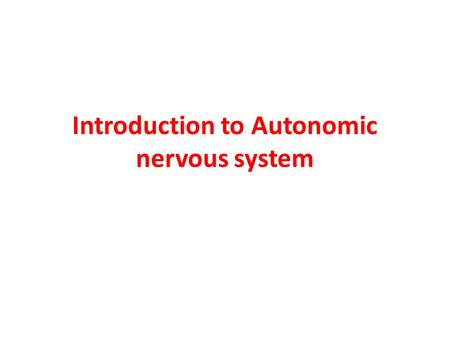 an introduction to the autonomic nervous system The sympathetic nervous system (sns) is one of the two main divisions of the  autonomic nervous system, the other being the parasympathetic nervous system.