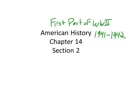 American History Chapter 14 Section 2