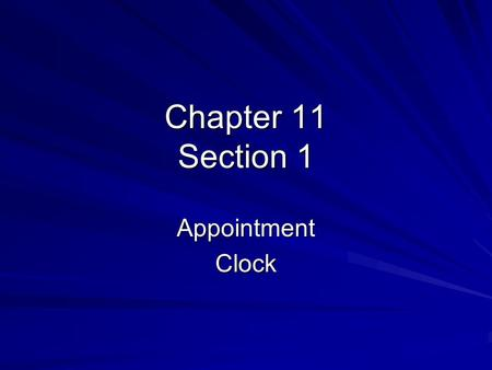 Chapter 11 Section 1 AppointmentClock. 12 O'clock Appointment Boomtowns & Mining Leads to Statehood What was the Comstock Lode & what type of ore was.