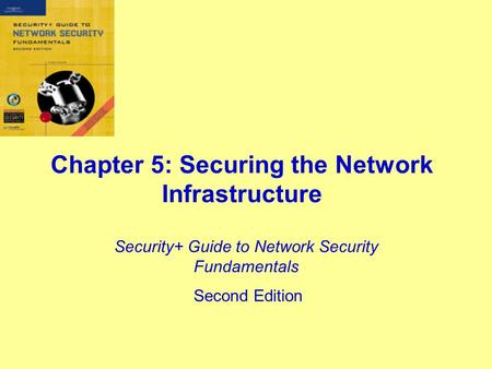 Chapter 5: Securing the Network Infrastructure Security+ Guide to Network Security Fundamentals Second Edition.