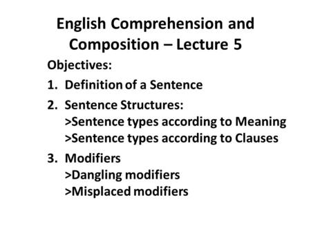 Copula and Sentence Structure