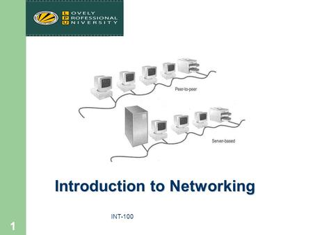 "INT-100 1 Introduction to Networking. INT-100 2 References Held G., ""Internetworking LANs and WANs – Concepts, Techniques and Methods"", Wiley, 2nd Ed.,"