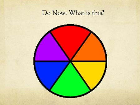 Do Now: What is this?. Other types of Color Wheels.