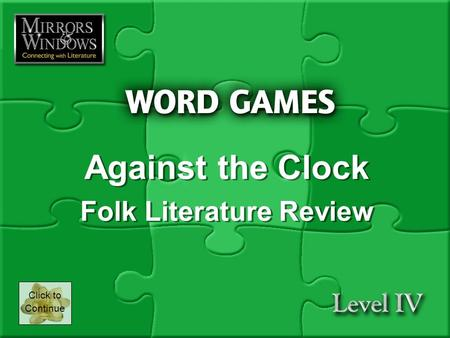 Against the Clock Folk Literature Review Against the Clock Folk Literature Review Click to Continue.