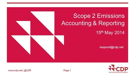Page 1 Scope 2 Emissions Accounting & Reporting 15 th May 2014