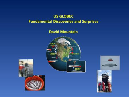 US GLOBEC Fundamental Discoveries and Surprises David Mountain.