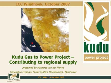 Kudu Gas to Power Project – Contributing to regional supply