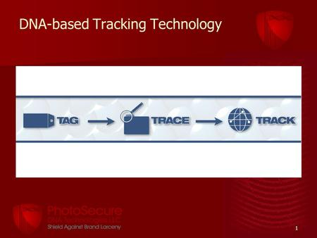 1 DNA-based Tracking Technology. 2 Product Protection Overt (visible) or Covert (invisible) security marking options. –DNA MultiMatrix™ Hologram –Barcodes.