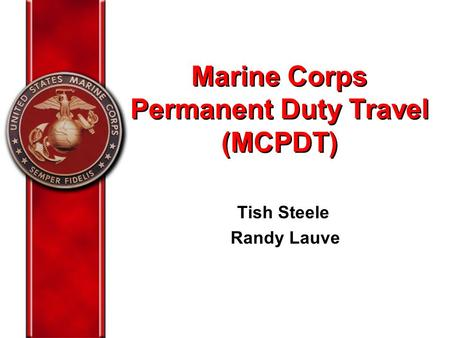 Marine Corps Permanent Duty Travel (MCPDT)