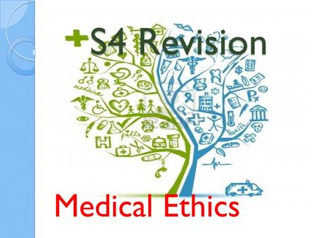 S4 Revision Medical Ethics. SQA National Grade Boundaries BandGrademark 1.A upper85- 100 2.A lower70- 84 3.B upper65- 69 4.B lower60-64 5.C upper55- 59.