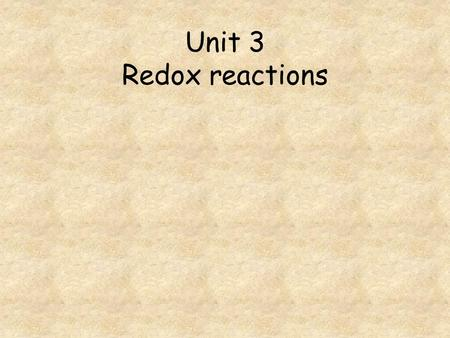 Unit 3 Redox reactions. Go to question 1 2 3 4 5 6 7 8 How many moles of I 2 are reduced by 1 mole of Cr 2 O 7 2- ions? Which of the following is not.