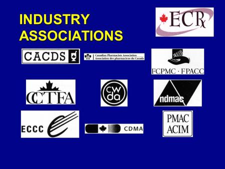 INDUSTRY ASSOCIATIONS. Efficient Foodservice Response September 24, 1998 Presented by: Co-Chairs, Canadian EFR Steering Committee Peter McLaughlin, President,