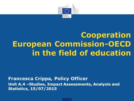 Cooperation European Commission-OECD in the field of education