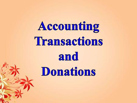 Expenditure transfers Accounting Transactions (A)Creating New Funds and Organization (B) Changing Financial Manager.