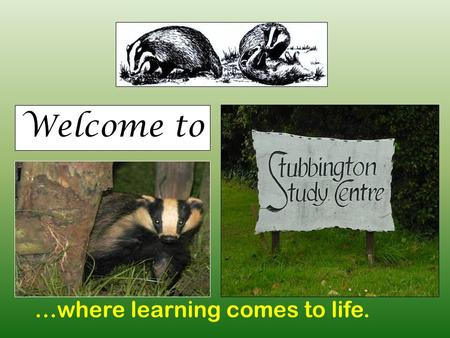 Welcome to …where learning comes to life.. Where are we? The Solent Stubbington Study Centre.