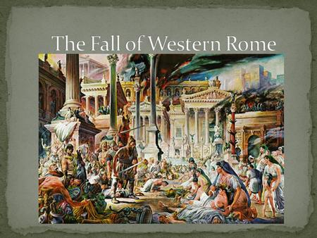 decline empire essay fall roman Essays fall of the western roman empire the western roman empire to decline although it took the place of many years the western roman empire did fall for.