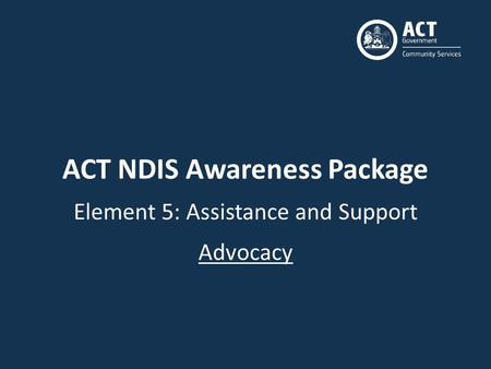 ACT NDIS Awareness Package