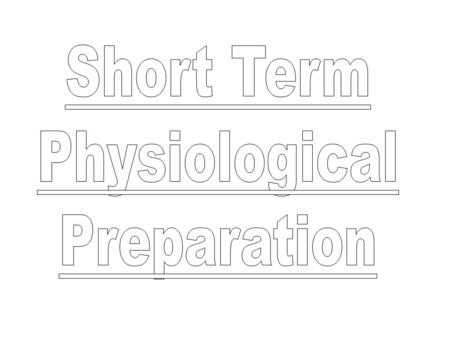 A Study of the ATP/CP System, Anaerobic and the Aerobic System